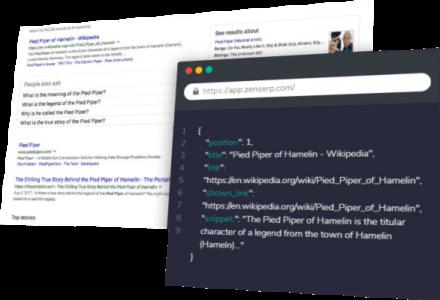 Google scraping services, scrape Google search results API
