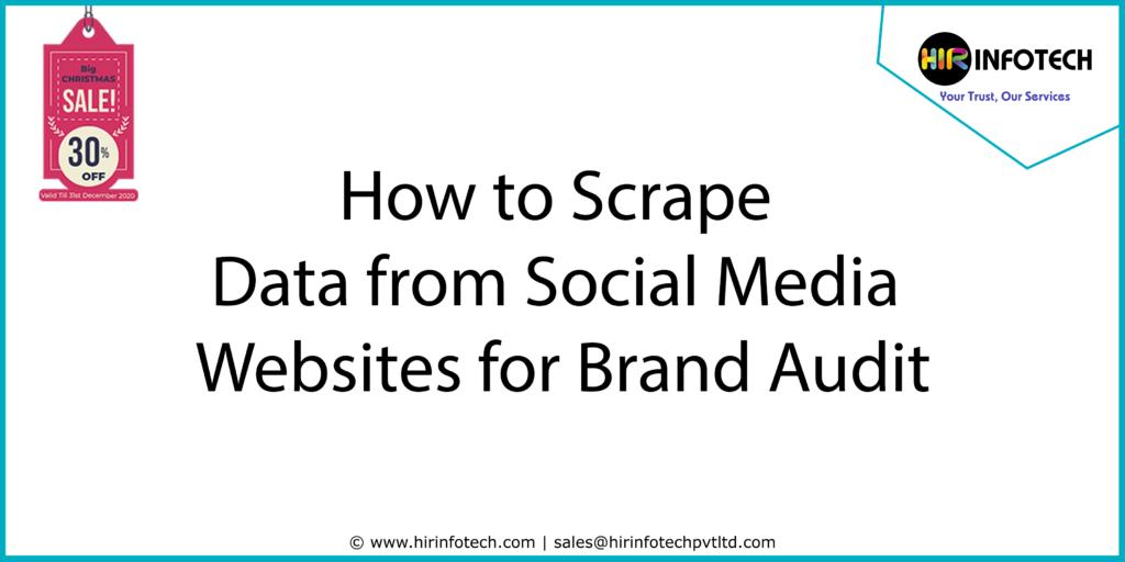 Social Media Scraping, Website Scraper